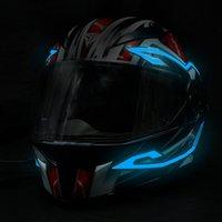 2021 Motorradhelm Leuchtstreifen LED kaltes Lichtblatt für Nachtreiten