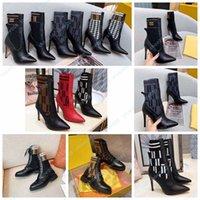 Женщины дизайнерские ботинки силуэт лодыжки ботинок черный Мартин пинетки стрейч высокий каблук носки сапоги и плоский носок кроссовки зимние женские туфли обувь008 1-1