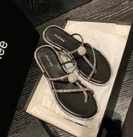 # 2487 Летний горный хрусталь сандалии модные ботинки квартиры слова кросс зажимные пальцы плоские сандалии и тапочки STRASS FLATSHOOS 35-40 Завод оптом быстрый корабль