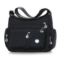 Multi compartment Single Shoulder Messenger Bag women's middle aged and elderly mother's bag light waterproof singleENEM