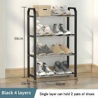 Clothing & Wardrobe Storage Metal Shoe Rack For Entrance Door 4 Tiers Shoerack Shoes Shelves