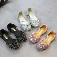 Girls shoes summer boots Toddler Baby Fashion Sneaker Child Girls Casual Sandals Sequins Pricness Shoes Flat bottom kids1