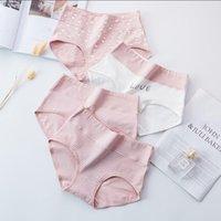 Women's Briefs Comfortable High Waist Cotton Underwear Lady Sexy Ultra-thin Panties Girl Lingerie Dropship