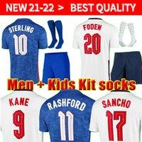 2020 2021 Футбол Джерси Кейн Стерлинг Rashford Sancho Henderson Barkley Maguire 20 21 22 Игрок Версия Национальные футболки Мужчины + Детские комплекты Униформа