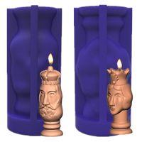 Handwerkzeuge King and Queen Silikon Kerzen Formen Manuelle Kreative Kerzenmaterial Harzformherstellung