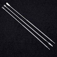 3 قطعة / المجموعة المقاوم للصدأ دوامة نوع earpick الشمع المزيل كوريت مزيل المضادة للانزلاق الأذن اختيار ملعقة نظافة الأذن أداة للبالغين
