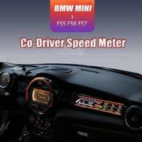 미니 쿠퍼 F55 F56 F57 승객 LCD 디스플레이 대시 보드 CO 드라이버 속도 미터 액세서리 디지털 스크린 자동차 DVD 플레이어