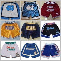 Basketball Shorts juste Don Sport Port Crenshaw Quincy McCall Basse Merion Flint Tropics Semi Jackie Moon Michigan Wolverines North Carolina Space Jam Tune Squad