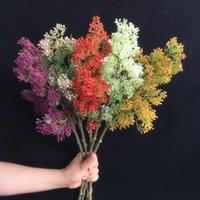 10 adet Sahte Milan Çiçek Meyve Plastik Yeşillik Bitki Ağacı Kök Şubeleri Simülasyon Düğün Ev Dekoratif Yapay Çiçekler Çelenkler için