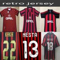 1962 1963 2007 2002 2003 2004 AC 밀란 Gullit 축구 유니폼 1988 96 97 Van Basten Kaka Inzaghi 성인 축구 셔츠