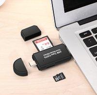 Çoklu USB2.0 Tip-C Mikro USB OTG ile SD TF Kart Okuyucu Bilgisayar MacBook Tablet Için