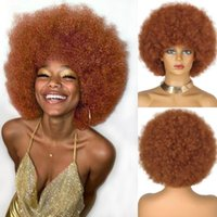 Synthetic Wigs 8 Inches Short Afro For Black Women 70's Kinky Wig Large Bouncy And Soft Natural Looking