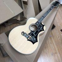 Aangepaste J200 Natuurlijke kleur 43 inch akoestische gitaar Elvis 11
