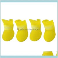 Dog Supplies Home & Gardendog Apparel 4Pcs Set Pet Shoes Waterproof Rain Boots Candy Color For Puppy Small Products Sale1 Drop Delivery 2021