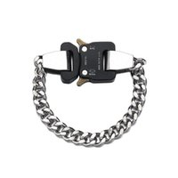 Bangle Stainless Steel Hip Hop Mens Curb Cuban Chain Bracelets Dargon Square Lock Clasp Jewelry