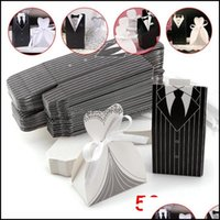 Wrap Festive Supplies Home & Gardensuit Wedding Box Creative Bag With Suit Design Favor Event Gift Party Candy Bags Drop Delivery 2021 Ggj9M