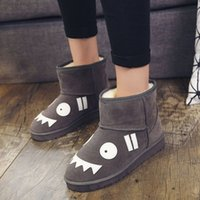 Winter 2021 cute cartoon snow boots outdoor high quality fashion flat padded soft soles warm cotton shoes Factory direct sale