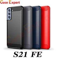 Karbon Fiber Fırçalanmış Doku Telefon Kılıfları Samsung S20 Ultra Not 20 S21 Fe A02S A12 A32 A42 A52 A72 A31 A41 A51