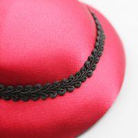 Fashionable mesh hat, luxury designer, high-quality bow, bridal headdress, hairpin, retro factory direct sales