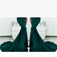 Gorgeous Emerald Green Evening Dresses Sweetheart Long Mermaid Prom Gowns 2017 Satin Fishtail Special Occasion Prom Dresses For Women