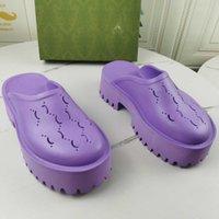 Marka Bayanlar Hollow G Platformu Sandalet Kadınlar Şeker Renkler Temizle Yüksek Topuk Sandal Stilettos Yaz Ayakkabı Üst Tasarımcılar Bayan Terlik Boyutu 35-40