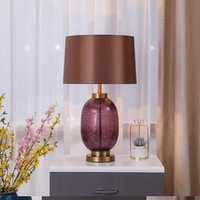 Desk Lamp, Bedroom, Bedside American Living Room, Glass, North Europe Ins Large Light Luxury El Lobby, Post Modern Table Lamps
