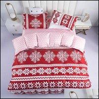 Bedding Supplies Textiles Gardenbedding Sets 4Pcs Sets Home Christmas Flat Bedsheet & Quilt Er Set With Pillowcase Queen Comforter Soft Brea