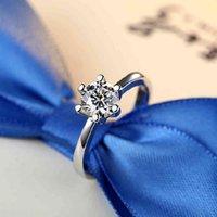 925 Стерлингового серебра Моисанит Кристалл Алмазные кольца для Женщины Позолоченные Австрия Циркон Кольцо Рождественские Подарочные Свадебные Украшения