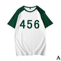 squid game T-shirt Korean drama number printed loose and comfortable short-sleeved men soccer jersey
