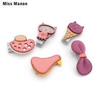 Accessoires pour cheveux Miss Manon Dessin animé Duck Baby Kids Clip Set Mignon Bowknot Fleur Fruits FRUITS CORÉEN POIGNES À POIGNE