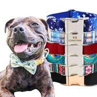 Nome Tag Cão Colar Cat Personalizado Designer Trançado Luxo Colares Cosas Para Perros Big Puppy Gravar o número 210416
