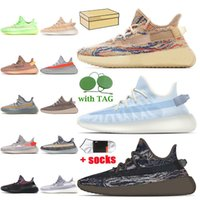 adidas yeezy boost 350 v2 stock x yeezy 350 Top Quality with Box Donne Mens Kanye West Scarpe da corsa Coda Light Black Reflective Ash Blue Trainer Sneakers EUR 48