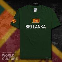 2021 스리랑카 리클랜드 남성 T 셔츠 패션 국가 팀 100 % 코튼 티셔츠 의류 티셔츠 국가 플래그 Lka Ceylon H0913