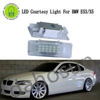 2 шт. Dahosun White LED вежливый дверной свет, совместимый с E53 x5 E39 E52 Z8 ошибка бесплатный автомобиль приветствуют аварийные огни