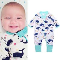 Полная печать на молнии Новорожденная Одежда Baby Pajamas Poomper Boys Boyswears Хлопчатобумажная девушка комбинезон младенца в целом 0-2 года высочайшее качество 210413