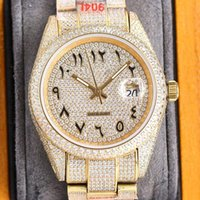 Full Diamond Mens Watch Automatic Mechanical Watches 40mm Pave Swarovski Diamonds Ladiy Wristwatch Made Of 904L Stainless Steel Montre de Lu