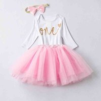 Newborn Baby Girl Clothes One Year First Birthday Party Bebe...