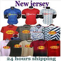 18 19 20 21 Manchester Rashford B. Fernandes Pogba Jerseys 2021 2122 Jersey Martial Camisetas United Utd Uniforms Man + Kids Kit