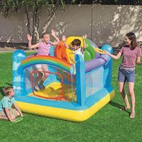 Trampolines Inflável Bouncer Bouncer Casa de salto para festa de aniversário Arco-íris Saltando Castelo Playhouse Crianças Jardim Brinquedos