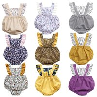 31 Styles Summer Baby Rompers Backless Ruffled Sleeve Boys Girls Jumpsuits Clothing Boutique Infants Clothes 1518 B3