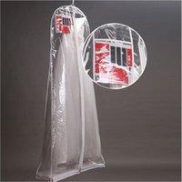 الملابس خزانة الملابس بالجملة ل فستان الزفاف غطاء الغبار الشفاف غطاء كبير ماء pvc الصلبة أكياس الملابس المسائية المطبوعة