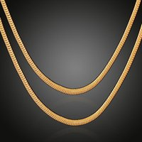 Chains Classic Design Personality Snake Chain Necklace For Women Vintage Waterproof Gold Color Men Chocker Sweater Trendy Jewelry Z336