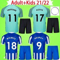 Brighton Trikot Erwachsene + Kinder Trikot Hove Albion Fußballtrikots 2021 2022 MAUPAY TROSSARD CONNOLLY MURRAY Herrenanzug blau gelb 21 22 Fußballtrikots Jungen Set