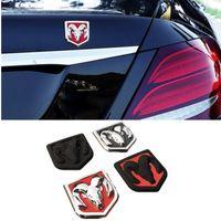 For Dodge Ram Logo Caliber Jcuv Journey Caravan Charger Durango Ram 1500 Nitro Car Rear Emblem Metal Auto Sticker Accessories