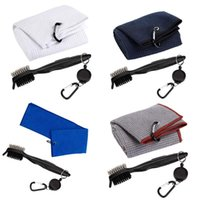 Golf Training Aids Towel And Club Brush Kit, Gifts For Men, Portable Accessories Cleaner Bag