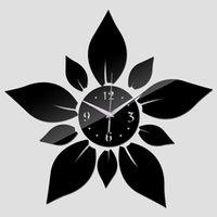 Wall Clocks Clock Sticker Decoration 3d Acrylic Mirror Watch Mechanism Secret Stash Quartz Diy Digital 50ZB293