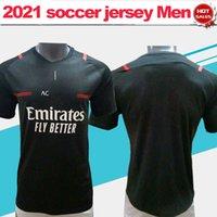 21 22 Ibrahimovic Kaka Milan Soccer Jersey 3rd Black Fans Version Rebic AC Men Football Camisa en venta