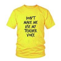Women's T-Shirt Drop Ship Don't Make Me Use My Teacher Voice Print Women Tshirt Funny T Shirt For Lady Girl Hipster Tumblr Top Tee