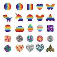 Rainbow Watermark Camuflagem Pop Fitgets Brinquedos Festa Sensory Dinossauro Avião Avião Push Decompression Necessidades Especiais Necessidades Ansiedade Reliever Escritório Trabalhadores