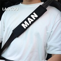 Safety Belts & Accessories 2PCS Car Styling Seat Belt Cover Case Emblem Shoulder Cushion Pad Cotton For MAN